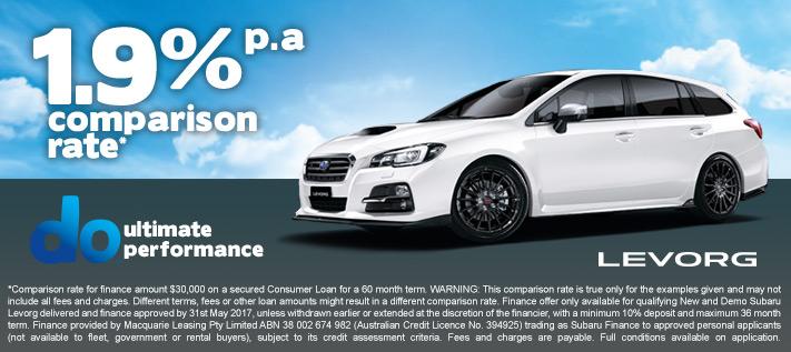 Subaru Levorg 1.9% Finance