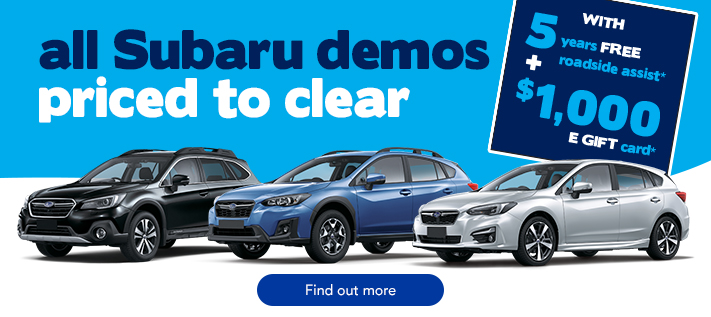Subaru TVC Demo Sale November