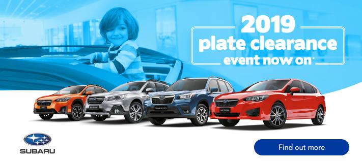 Subaru Plate Clearance 2019