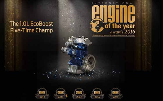 1.0-Liter Ford EcoBoost Wins Best Small Engine �Oscar� for 5th Year Running