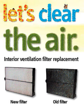 Replace you pollen filter
