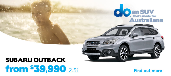 Subaru Outback from $39,990