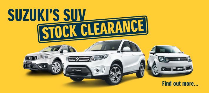 Suzuki SUV Stock Clearance
