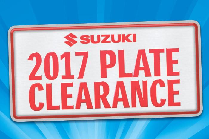 Suzuki 2017 Plate Clearance