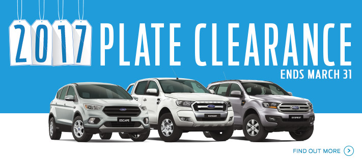 Ford 2017 Plate Clearance