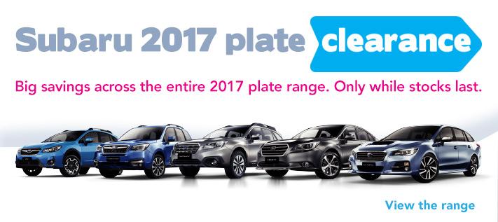 Jarvis Subaru 2017 Plate Clearance