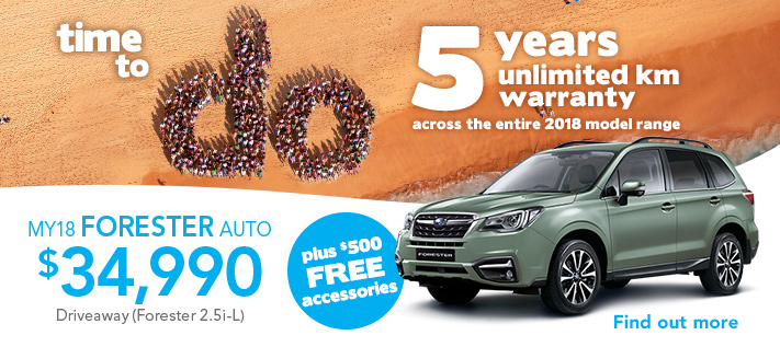 Subaru do 5 years warranty