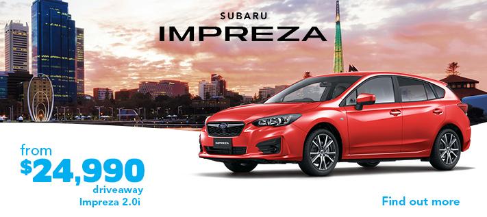Subaru driveaway offers - Impreza