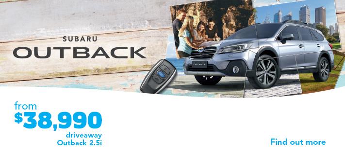 Subaru driveaway offers - Outback