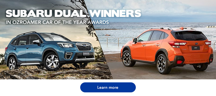 Subaru Dual Winner in OzRoamer Car of the Year Awards