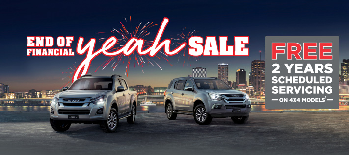 Isuzu End of Financial Yeah Sale