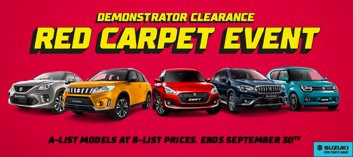Suzuki's Red Carpet Demo Sale