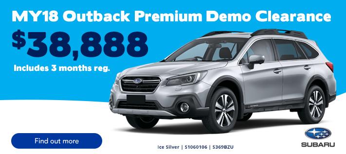 Subaru Outback Demo Barossa
