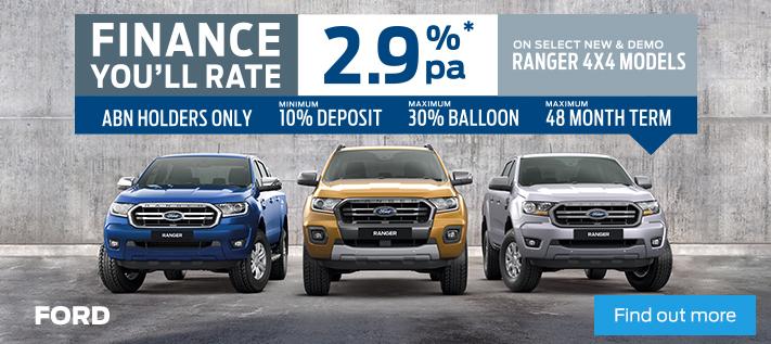 Ford - 2.9% Ranger Finance Offer