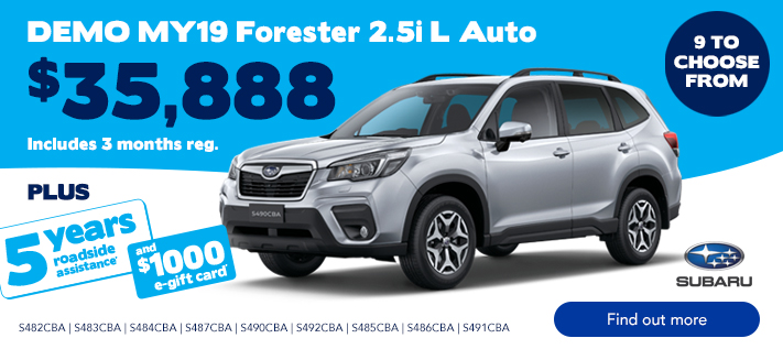 Subaru TVC Demo Sale Foresters