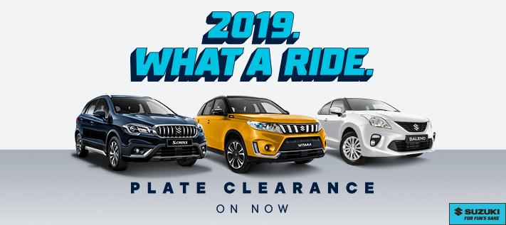 Suzuki's 2019 Plate Clearance
