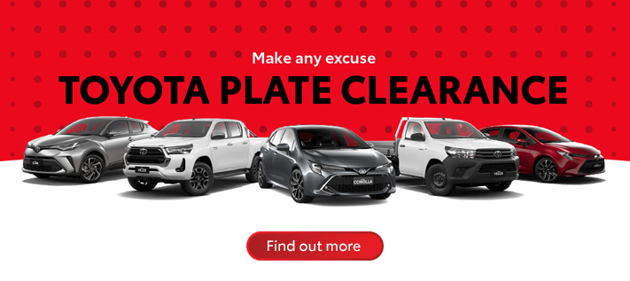 Toyota Plate Clearance 2020