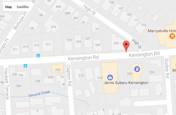 Kensington Location Map