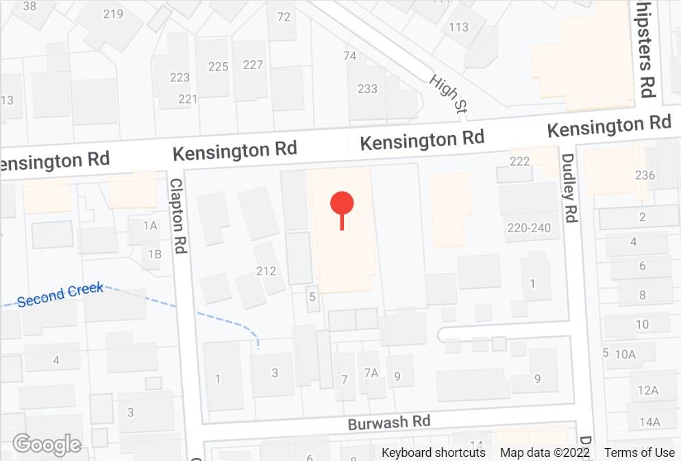 Kensington Location Map