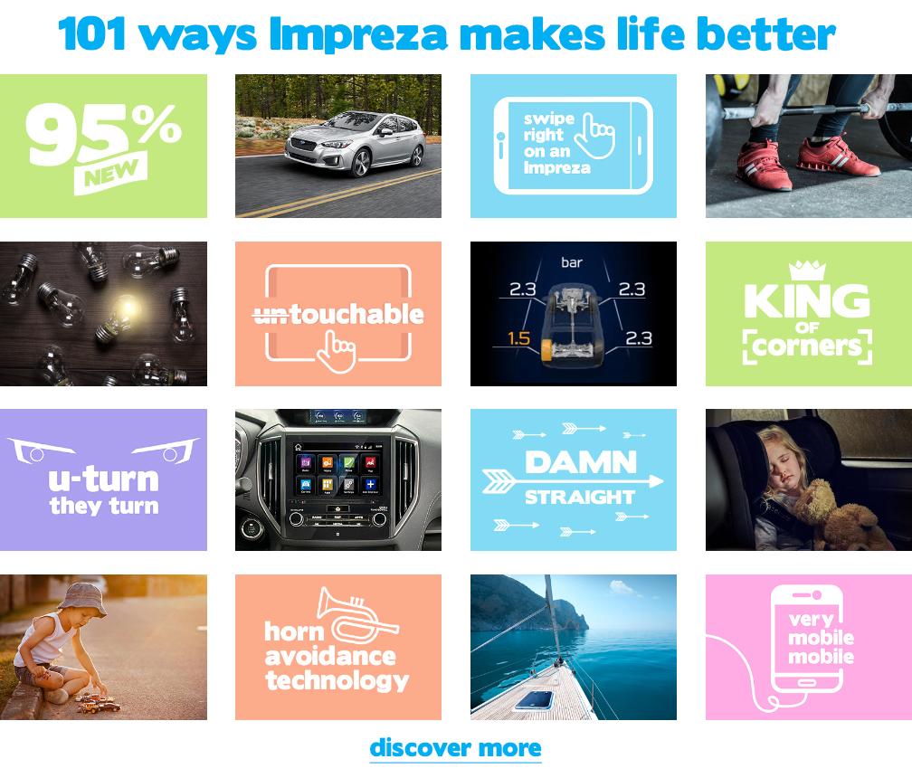 101 ways Impreza makes life better