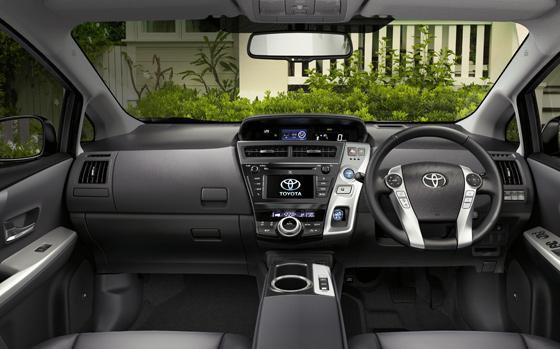 Toyota Prius v interior
